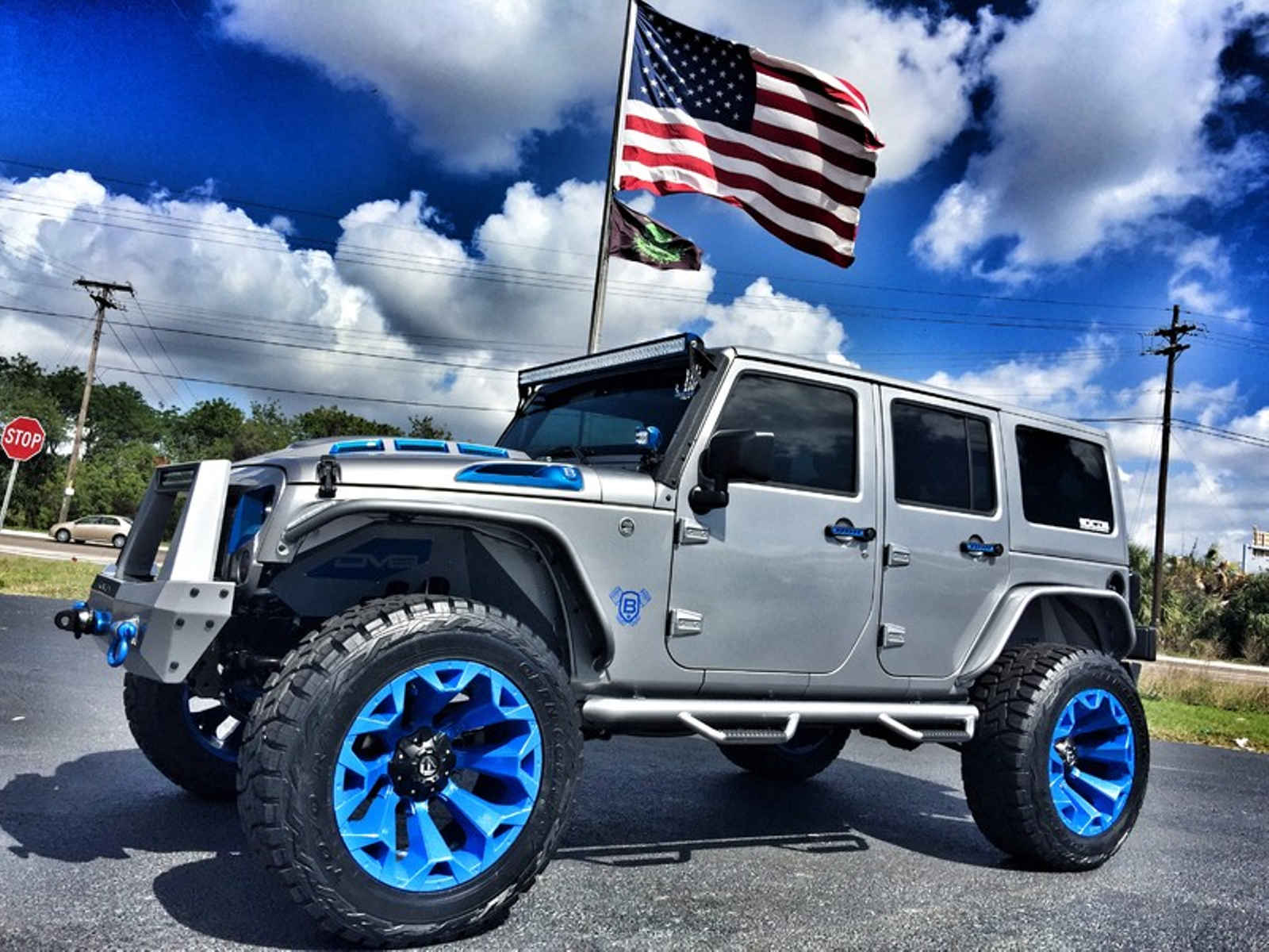2017 Jeep Wrangler Unlimited Custom Lifted Leather Hardtop