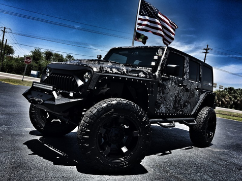 2017 Jeep Wrangler Unlimited DIGI CAMO LIFTED LEATHER HARDTOP 24S in , Florida