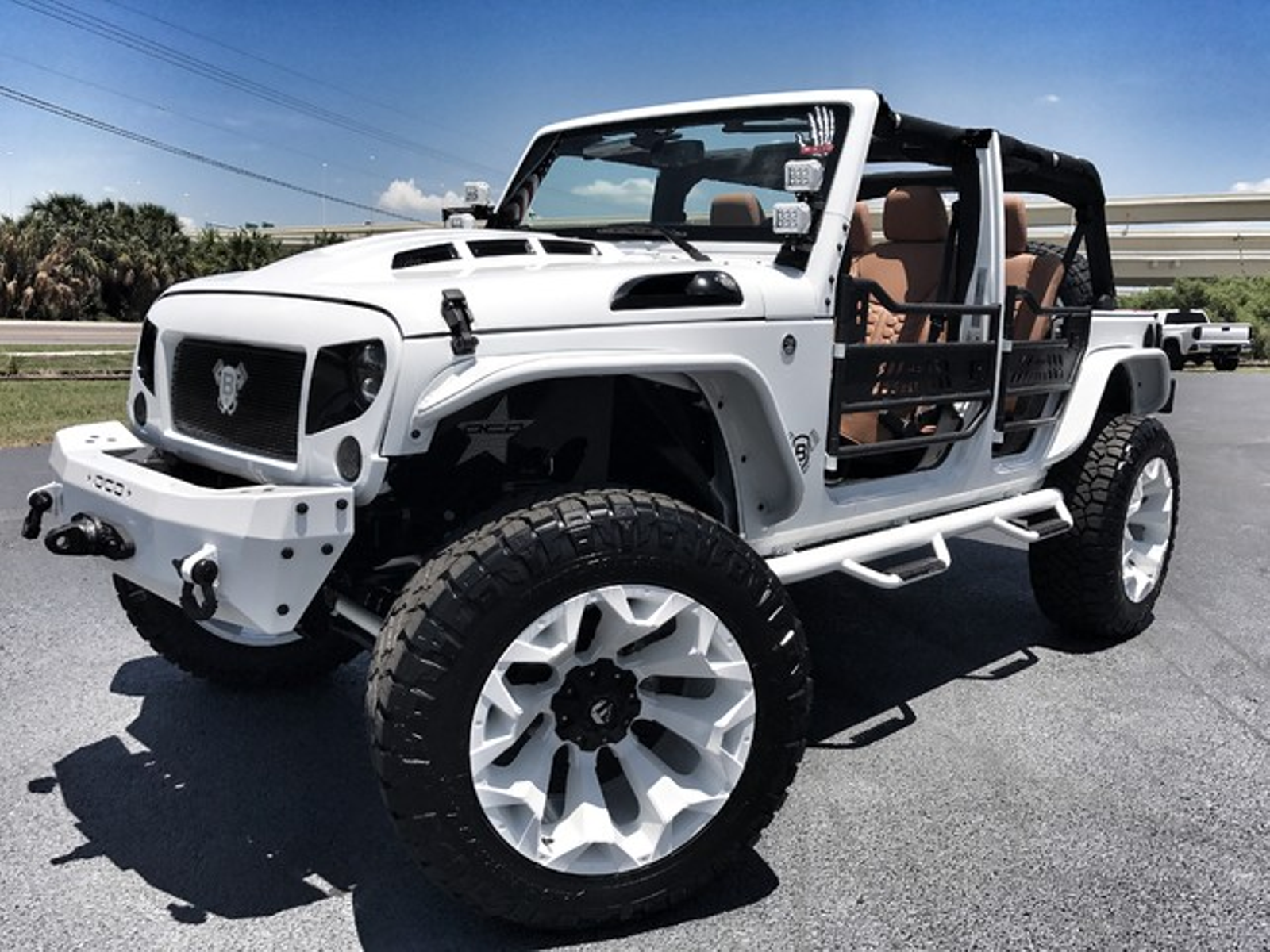 2017 jeep wrangler unlimited white out custom lifted leather hardtop florida bayshore automotive. Black Bedroom Furniture Sets. Home Design Ideas
