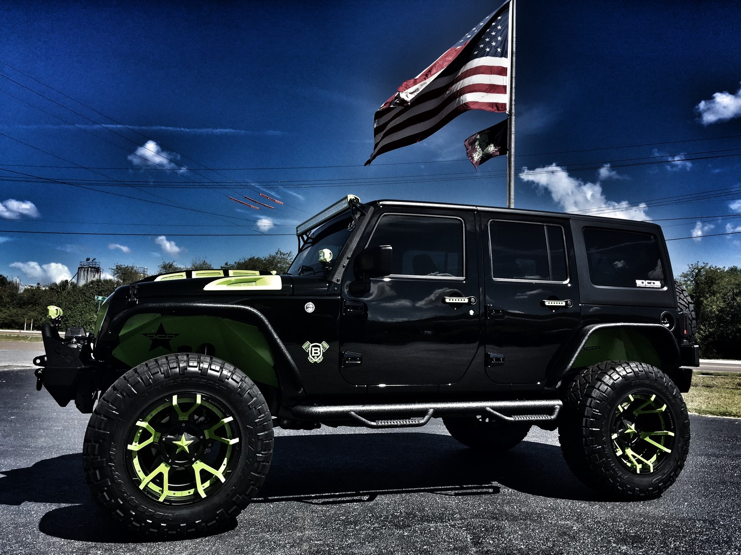 2017 Jeep Wrangler Unlimited Biohazard Custom Lifted