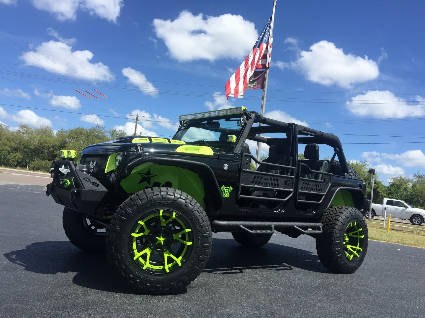 2017 jeep wrangler unlimited biohazard custom lifted leather florida bayshore automotive. Black Bedroom Furniture Sets. Home Design Ideas