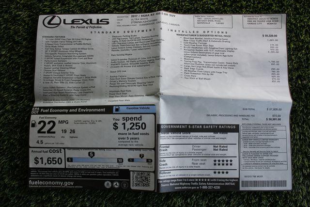2017 Lexus RX 350 F Sport AWD - NAVIGATION - SUNROOF - BLIND SPOT Mooresville , NC 6