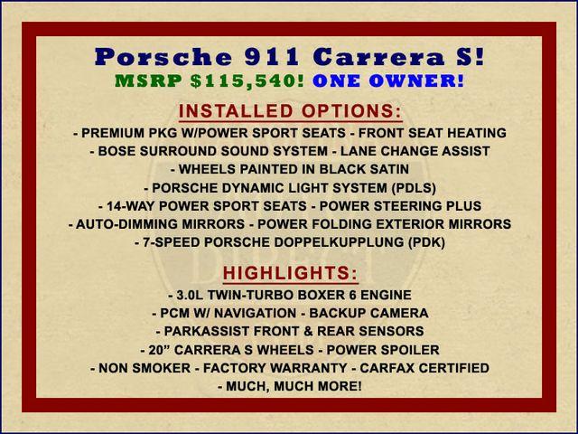 2017 Porsche 911 Carrera S RWD - PREMIUM PKG - DOPPELKUPPLUNG! Mooresville , NC 1