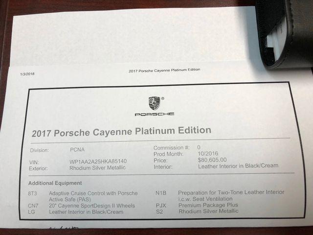2017 Porsche Cayenne Platinum Edition Longwood, FL 50