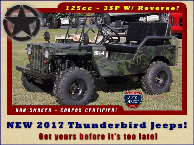 2017 Thunderbird Jeep - NEW - LIMITED QUANTITY - LOTS OF FUN! Mooresville , NC 0