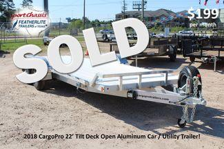 2018 Cargo Pro Open Utility Trailer 22' Open Car Trailer CONROE, TX