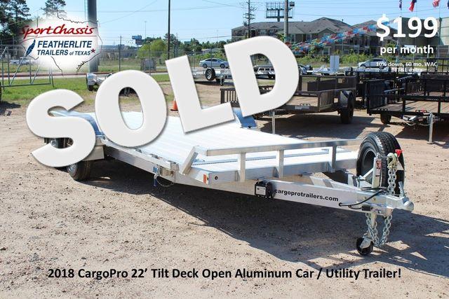 2018 Cargo Pro Open Utility Trailer 22' Open Car Trailer CONROE, TX 0