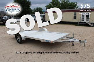 2018 Cargo Pro Single Axle Utility Trailer 14' Utility CONROE, TX