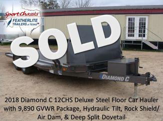 2018 Diamond C 12CHS - 20 HYD TILT Deluxe Steel Floor Car Hauler CONROE, TX