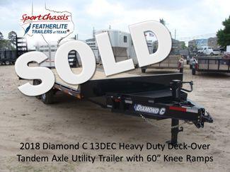 2018 Diamond C 13DEC 20' - Heavy Duty Deck-Over Trailer CONROE, TX