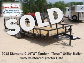 "2018 Diamond C 14TUT - 18' ""Texas"" Utility Trailer CONROE, TX"