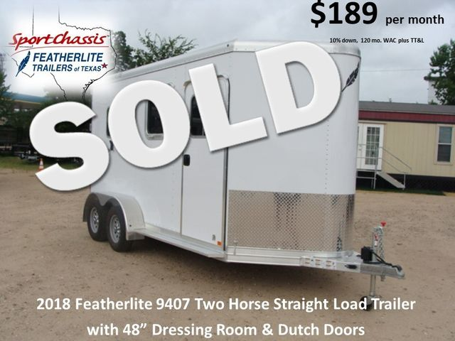 2018 Featherlite 9407 Two Horse Straight 2H Straight Load CONROE ... & 2018 Featherlite 9407 Two Horse Straight 2H Straight Load | CONROE ... Pezcame.Com