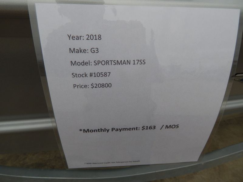 2018 G3 Sportsman 17SS stick steer   in Charleston, SC