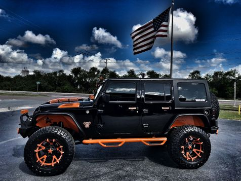 2018 Jeep Wrangler JK Unlimited BLACK N ORANGE HARDTOP CUSTOM LIFTED LEATHER in , Florida