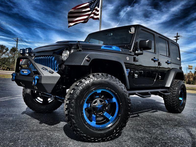 2018 Jeep Wrangler Jk Unlimited Rubicon Black N Blue