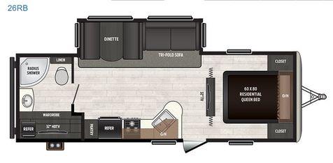 2018 Keystone Sprinter 26RB - Big Slide - Auto Lvl - Ext Kitchen Thermal Pak - 2 TV - Huge Storage - Sleeps 6 | Colorado Springs, CO | Golden's RV Sales in Colorado Springs, CO