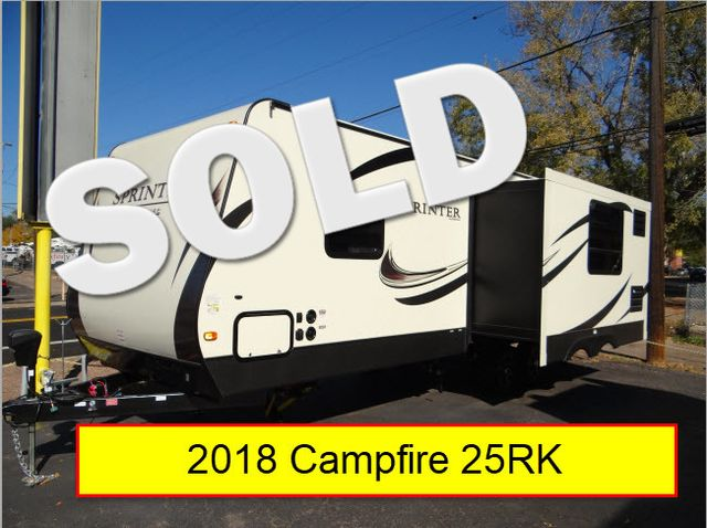 2018 Keystone Sprinter 25RK - Auto Level - Thrml Pak - Easy Pull Big Storage - Residential Shower - LED Lights | Colorado Springs, CO | Golden's RV Sales in Colorado Springs CO
