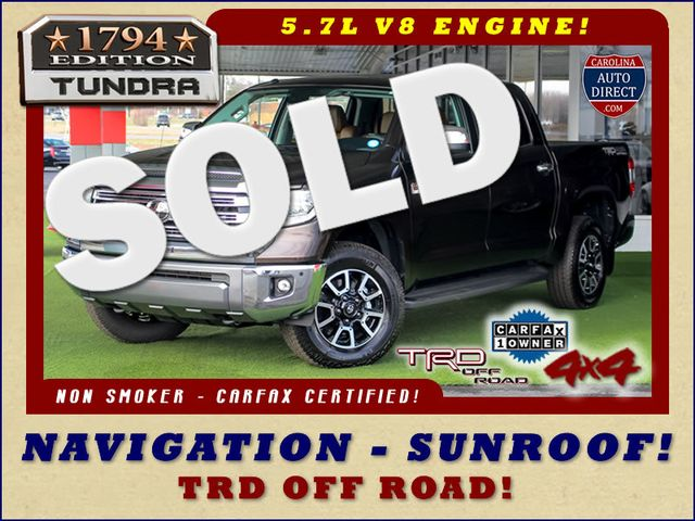 2018 Toyota Tundra 1794 Edition CrewMax 4x4 - TRD OFF ROAD - SUNROOF! Mooresville , NC 0