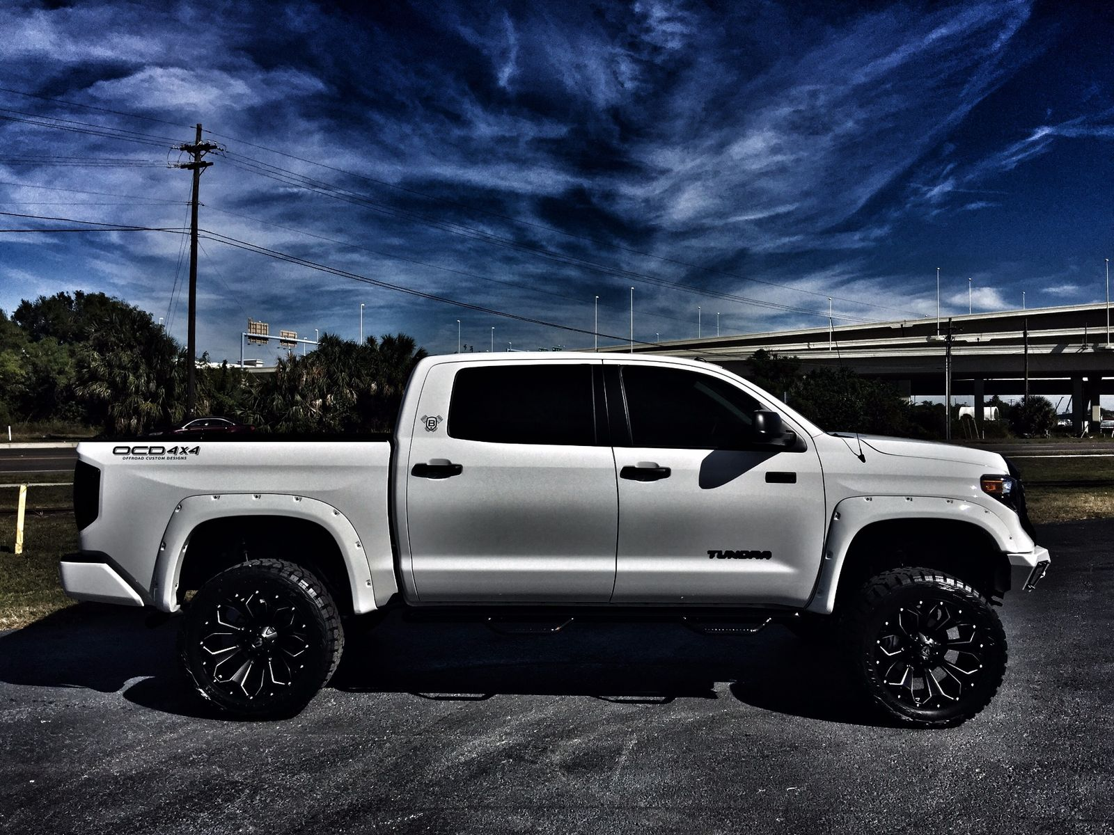 Toyota Tundra Platinum Lifted >> 2018 Toyota Tundra USTOM LIFTED CREWMAX LEATHER 4X4 V8 Florida Bayshore Automotive